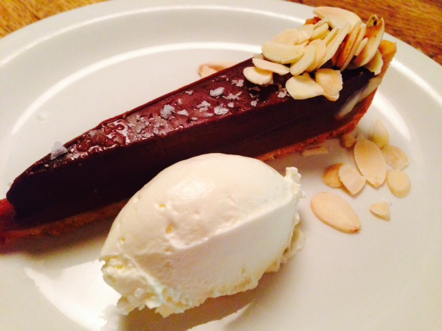 Salted chocolate caramel tart (yummm!)