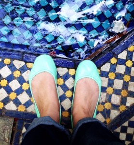 My mint Tieks in Marrakesh