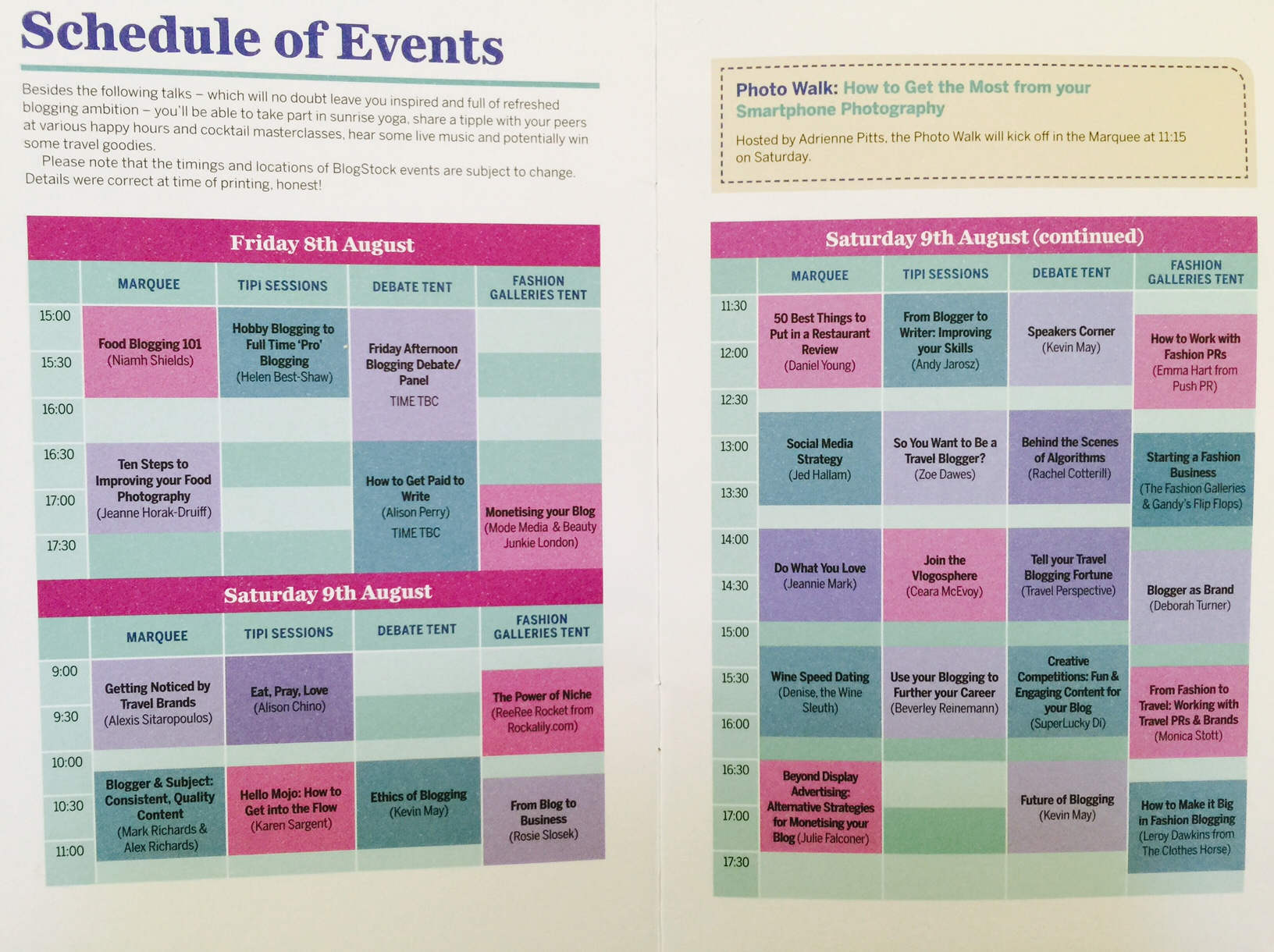 Blogstock 2014 schedule